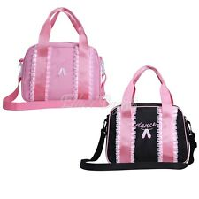 Girls Shoulder Bag Embroidered Hand Bag Tote for Dance Ballet Gymnastics Dancing