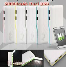50000mAh 2 USB Backup External Battery Power Bank Pack Charger for Cell Phone F0