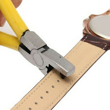 New Universal Hand Leather Strap Watch Bands Belts Tool Hole Punch Pliers Tools