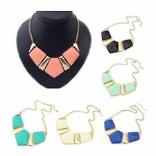 Fashion Gems Necklace Vintage Bib Statement Necklace Chain Chunky Collar Party
