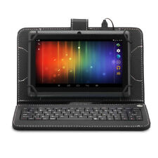 """7"""" inch Android 4.4 Quad Core Black Tablet PC 8GB Dual Camera w/ Keyboard Bundle"""