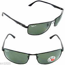 NEW AUTHENTIC METAL RAY BAN RB3498 POLARIZED MIRROR RECTANGLE 100% UV FROM ITALY