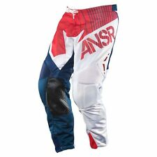 ANSR A15 ALPHA AIR VENTED MESH MX PANT ANSWER RACING PANTS RED/BLUE ADULT SIZE