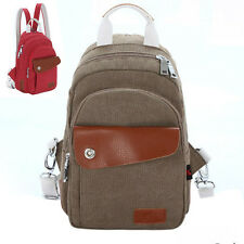 Unisex Travel Canvas Cross Body Messenger Shoulder Back pack Sling Chest Bag