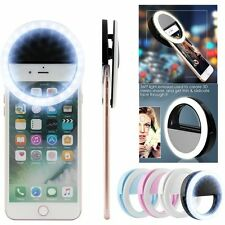 Portable Selfie Flash LED Ring Fill Light Camera Photography For iPhone Samsung