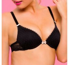 Passionata By Chantelle Sweet Love Push Up Plunge Bra Black 5122 Size 38C NEW