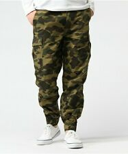 A BATHING APE 1ST CAMO 6 POCKET TRACK PANTS Mens Cargo Joggers New From Japan