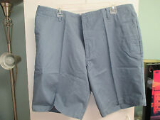 NWT Mens Casual Shorts by Dockers, Blue/Gray Size 40 or 42, Flat Front