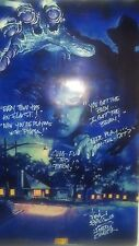 Robert Englund autograph A nightmare on Elm Street poster signed w/ 5 qoutes COA