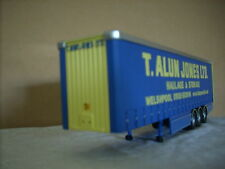 "CORGI MODERN TRUCK - TRI  AXLE CURTAINSIDE TRAILER "" T. ALUN JONES LTD."""