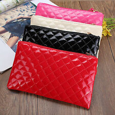 Fashion Womens Lady Leather Checkbook Clutch Bags Card Holder Coin Purse Handbag