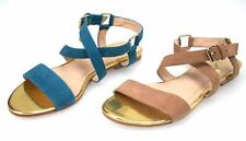LIU JO WOMAN SANDAL FLAT SHOES OIL OR NUT SUEDE CODE S14037 P0021 ARIANNA