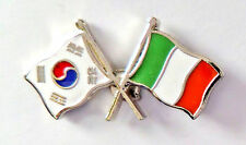 Multi Friendship Double Country Flag Pin Badge Lapel Hat Tie Metal Pin Badge