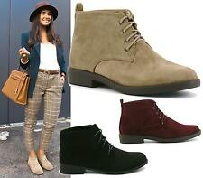 WOMENS LADIES DESERT BOOTS SUEDE CASUAL LACE UP FASHION ANKLE TRAINERS SHOES