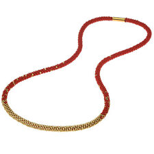 Long Beaded Kumihimo Necklace - Red & Gold - Exclusive Beadaholique Jewelry Kit