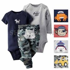 Carters Baby Boys 3 Piece Matching Outfit Infant Set-2 Bodysuits, 1 Pant