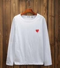 Men's  Tee Comme Des Garcons CDG Play Lovely red Heart  Woman's Long T-shirts