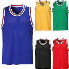 New Men's Sleeveless Mesh Basketball Team Jersey Tank Top Sports Shirt Tee Vest