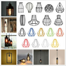Vintage Metal Pendant Light Bulb Chandelier Cage Ceiling Hanging Lampshade PICK