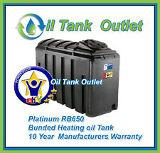 Domestic Heating Oil Storage Tank ~650ltrs Rect'  Platinum Bunded with options