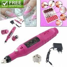 Polish Pen Shape Electric Nail Drill Machine Art Salon Manicure File Tool Set GV