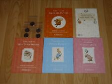 THE BEATRIX POTTER 50p COIN ALBUM with COINS AND 4 BEATRIX POTTER BOOKS