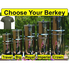 Berkey Water Filter System w/ Berkey T-shirt - Crown Imperial Royal Big Travel