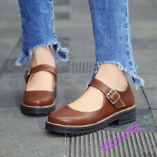 Womens Retro Mary Janes Shoes Cosplay Lolita Plus Size Casual Shoes 2017 Spring