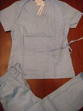 1063 STRETCH FABRIC EMT Hospital Nurse Uniform Fashion Cargo Scrub Set Aqua Blue