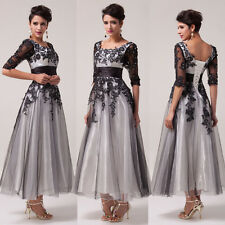 Lady Elegent Applique Formal Prom Cocktail Evening Party Dresses Long Ball Gowns