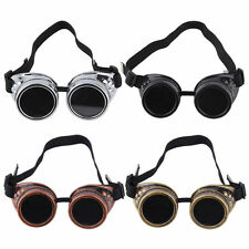 Cyber Goggles Steampunk Glasses Vintage Retro Welding Punk Gothic VictorianFR