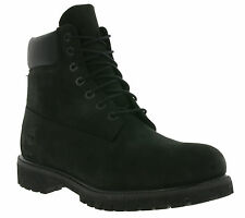 NEW TIMBERLAND Mens Boots 6 IN Premium Real leather winter shoes Black 10073