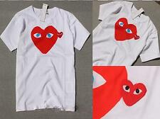 CLASSIC  MEN'S COMME DES GARCONS CDG PLAY Big HEART BLUE EYES WOMEN'S T-SHIRT