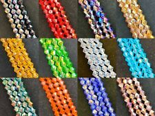 4mm glass crystal faceted AB bicone beads - approx 18 inch strand, colour choice