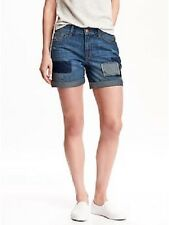 OLD NAVY BOYFRIEND DISTRESSED DESTRUCTED TOMBOY PATCH SHORTS