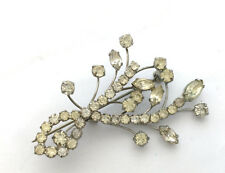 VTG Juliana D&E Austrian Rhinestone Flower Branch Spray Brooch Pin