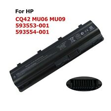 6 Cell Battery/Charger 593553-001 For HP CQ42 MU09 G62t-100 dm4-1065dx dv7-6000