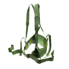 New Molle Tactical Waist Padded Belt Battle Belt with H-shape Suspender 3 Colors
