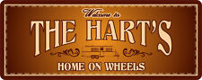 Personalized Welcome to Our Home on Wheels Sign RV Motorhome Camper Plaque C1308