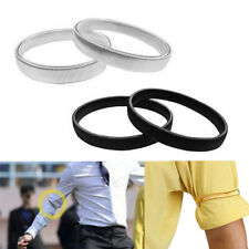 Shirt Sleeve Holders Arm Bands Elasticated Metal Armband For Men Ladies   ON