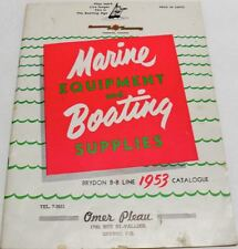 1953 MARINE EQUIPMENT & BOATING SUPPLIES CATALOG