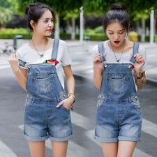 Womens Fashion Slim Jeans Jumpsuit Denim Overall Hot Shorts Suspenders Dungarees