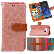 For Samsung Galaxy Luxury Flip Leather Pattern Card Wallet Case Cover Stand