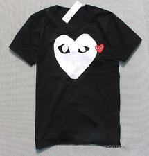 New Men's Comme Des Garcons CDG Play Big white Heart Tee Women's Black T-shirts