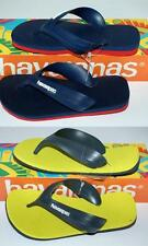 HAVAIANAS Genuine BNWT Kids THONGS FLIP FLOPS Sandals MAX Grey or Red Logo Surf