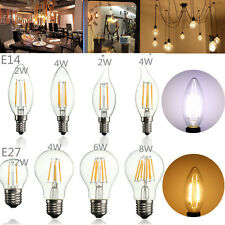 E14 E27 2w 4w 6w 8w Edison Filament COB LED Candle Light Globe Bulb White Lamp N