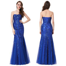 Pageant Celebrity Sequins Ball Gown Evening Bridesmaid Prom Party Mermaid Dress