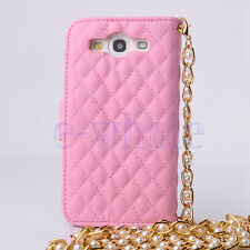 Bling Crystals Flower PU Leather Handbag Wallet Case For Samsung Galaxy S3 K6