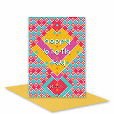 Happy birthday card for her or him personalised edit name