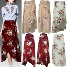 Boho Women Chiffon High Waist Beach Long Maxi Dress Stretch Elastic Waist Skirts